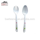 High quality baby temperature plastic shape dinner folk spoon