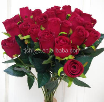 Mini Long Single Stem Artificial Silk Roses Purple Flower Buy Long
