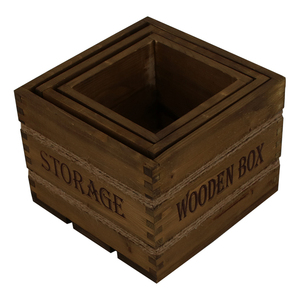 High quality Garden Solid Wooden Crate Home Storage Crate