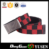Popular in China Plaid Cotton Belt Striped Woven Canvas belts