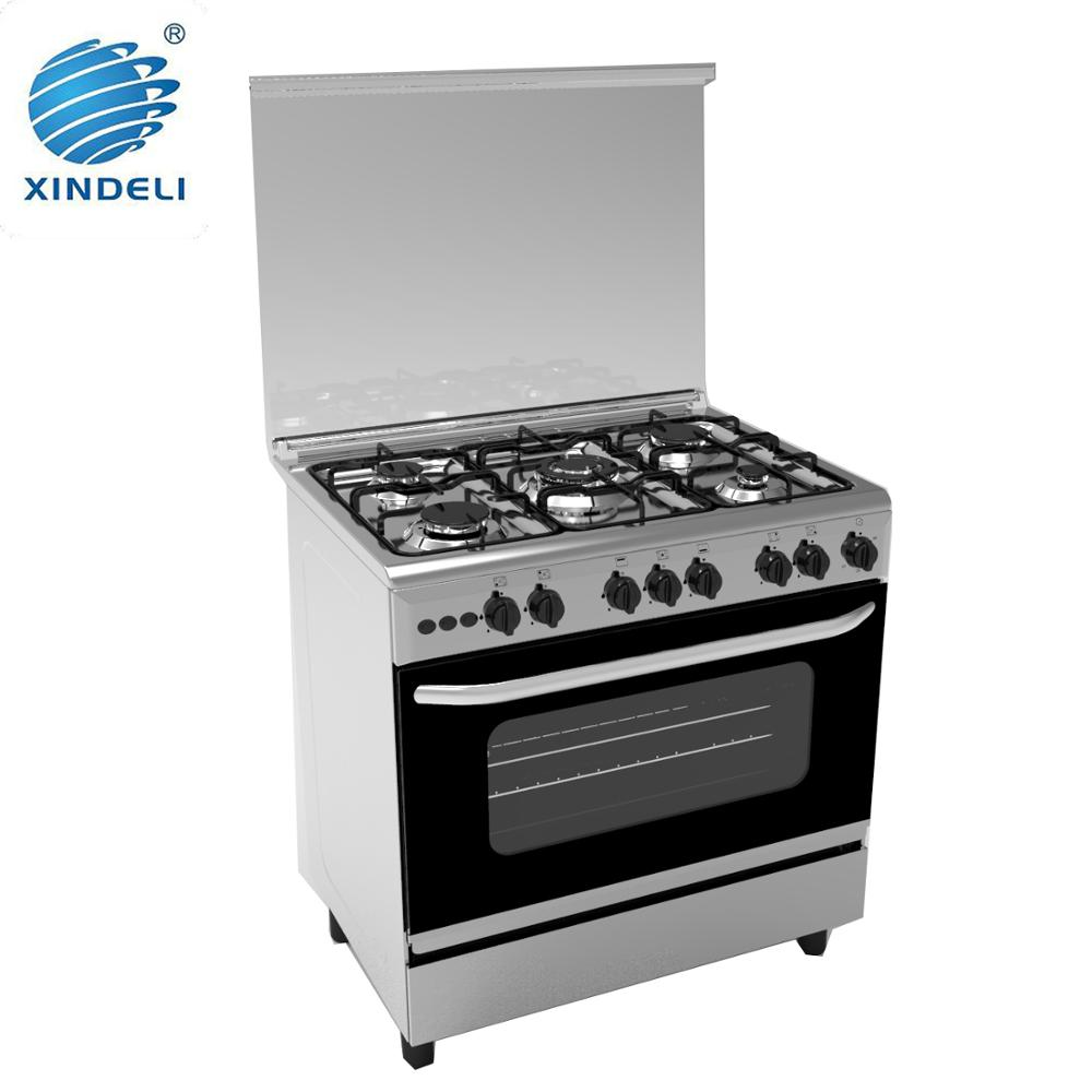 Free standing gas stoves oven and grill,5 burner gas stove with gas oven and grill