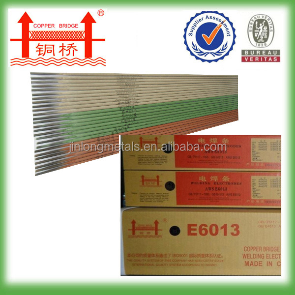 Current AC/DC manufacturer high titania type 2.5mm-5.0mm diameter 300mm-450mm length aws e6013 e6010 welding electrode rod