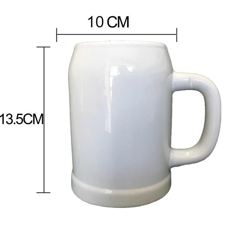 0.5L German Beer Steins customized logo sublimation printable ceramic mugs