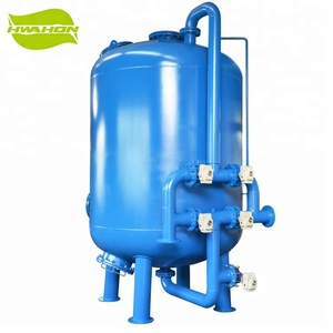 Mechanical sand filter carbon steel housing sand filter tank for water treatment equipment