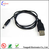 480Mbps USB charger cable to dc jack cable black 1m