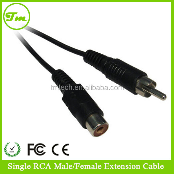 25 ft. RCA Male to Female Shielded Molded Audio Extension Cable