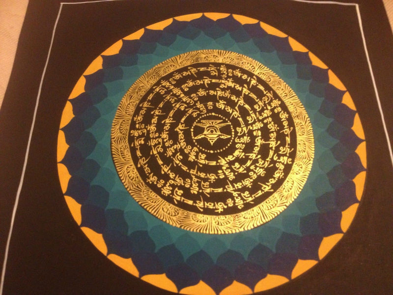 mandala thangka meditation art painting