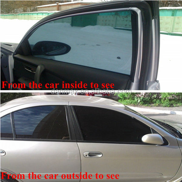 New reused non adhesive car window tinting static window sticker