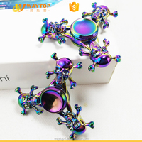 Newest Three Skulls Fidget Spinner Metal Toy with China factory price