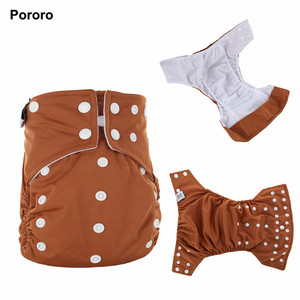 Pororo Brand Waterproof PUL AI2 Baby Cloth Diaper With Double Gusset and inserts