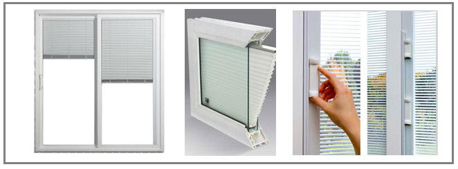 Upvc Pvc Aluminum Windows With Built In Blinds Double Gl