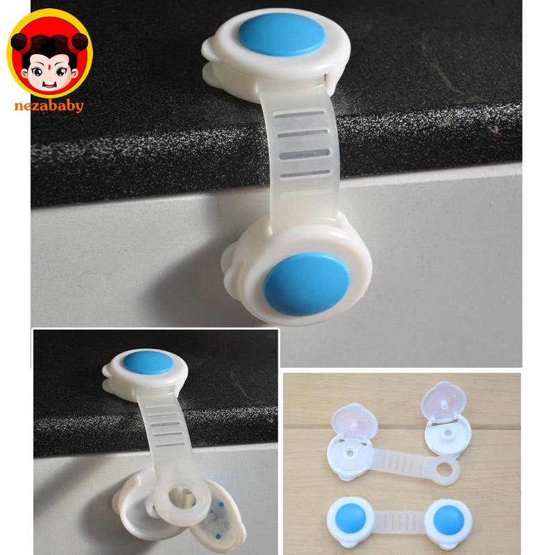 2pcs Baby kids Safety Locks Fridge Cabinet Door Safety locks Drawer Toilet Safety Plastic Locks Care