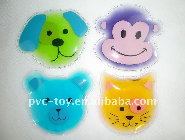 pvc reusable hand warmer hot pack with cartoon character design for best gifts for kids