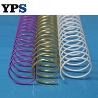 14MM Colorful Metal Spiral Single Ring Book Binding Coil