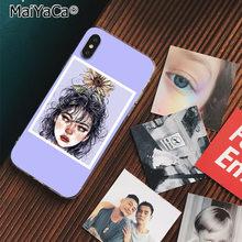 MaiYaCa Art Эстетическая линия цветок девушка Новинка чехол для телефона Fundas чехол для iphone 11 pro 8 7 66S Plus X XS MAX 5s SE XR чехлы(Китай)