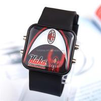 2014 fashion cheap plastic football star led watches wholesale bulk