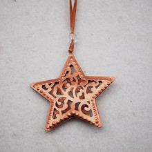 Functional oem service custom christmas craft decorations star hanging ornaments