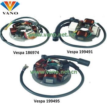 Vespa 186974 199491 199495 Motorcycle Magneto Stator Coil - Buy Vespa  Stator Coil,Vespa 186974 Stator Coil,Vespa 199491 Coil Simson Product on