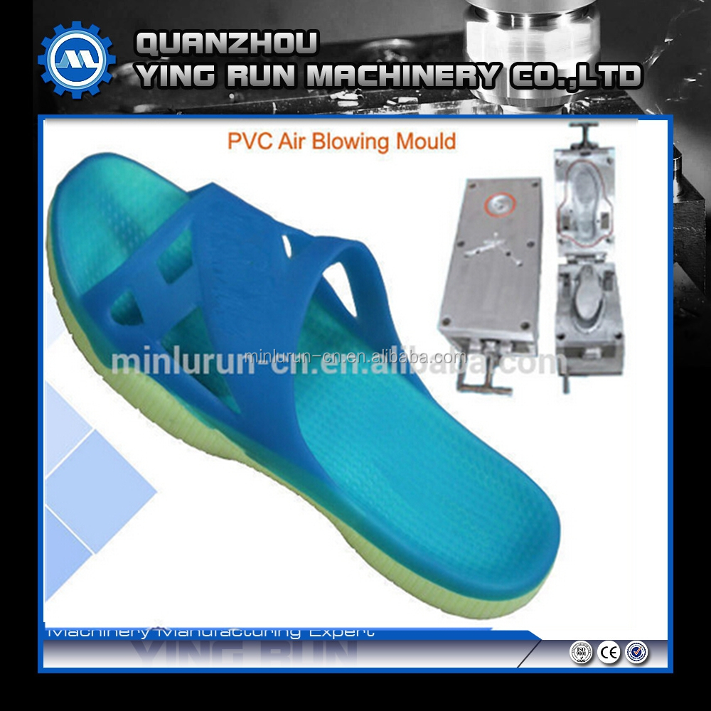 PVC air blowing shoes mould for making women's sansal/slipper