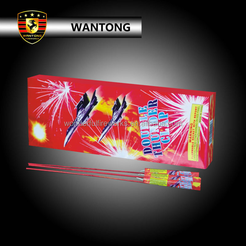 Double Thunder bomb pyrotechnic small rocket fireworks