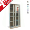 bookcase with glass doors model / sliding glass door filing cabinet / metal lockable cabinet with glass door