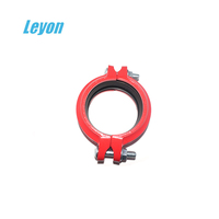 Grooved pipe fitting flexible coupling clamp ductile iron rigid flexible coupling cast iron pipe fitting fire coupling