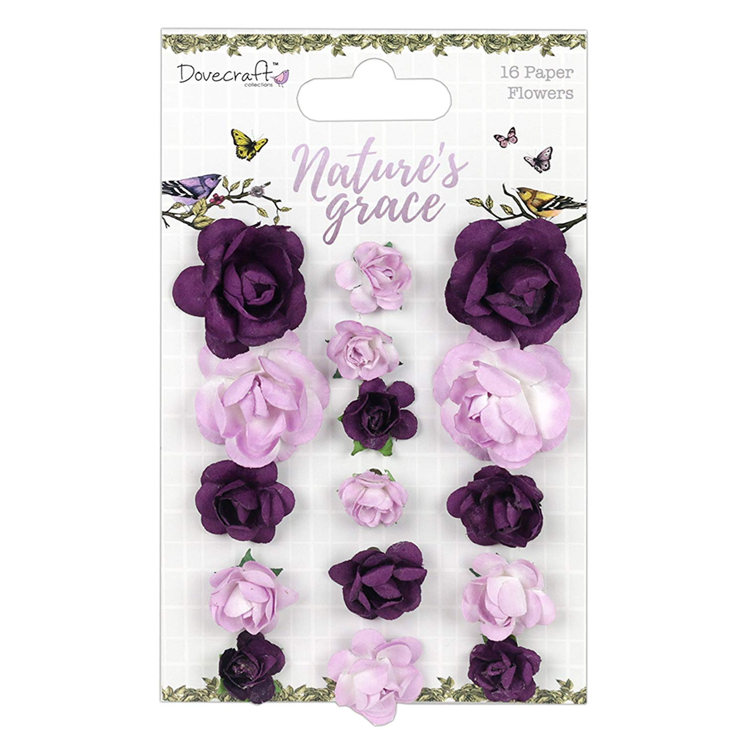 Dovecraft Premium Nature's Grace Paper Craft Collection - Paper Flowers