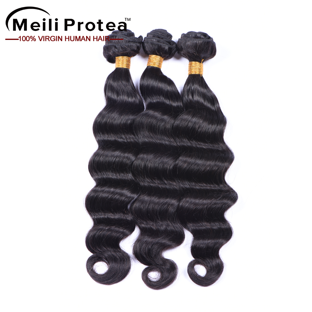 8a loose wave brazilian human hair extensions drawstring ponytail