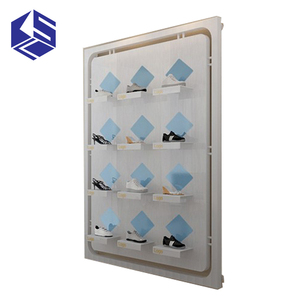 Online shop wall mount shoe display shelf shoe racks for shops