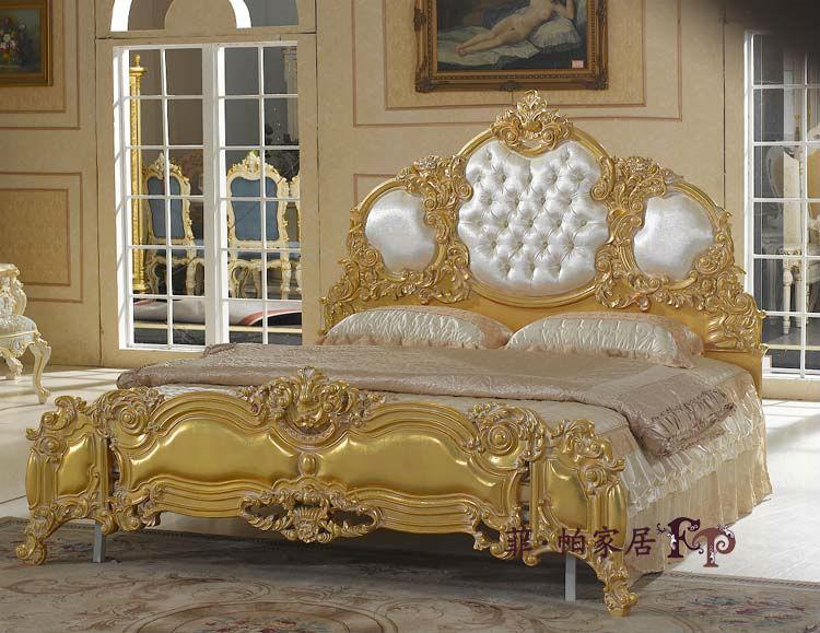 Barroco muebles s lido juego de dormitorio de madera - Dormitorio barroco ...