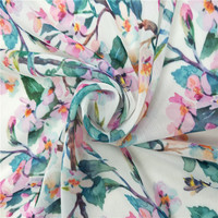 75D high quality best price digital print 100 polyester crepe chiffon fabrics