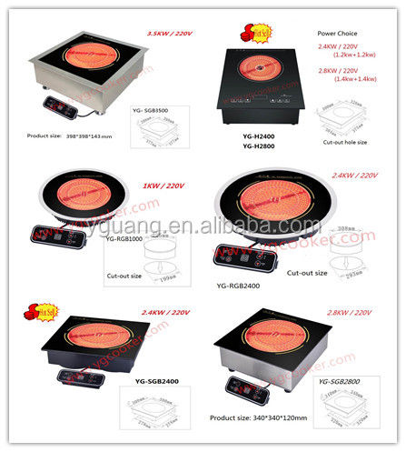 infrared radiant and halogen induction cooker
