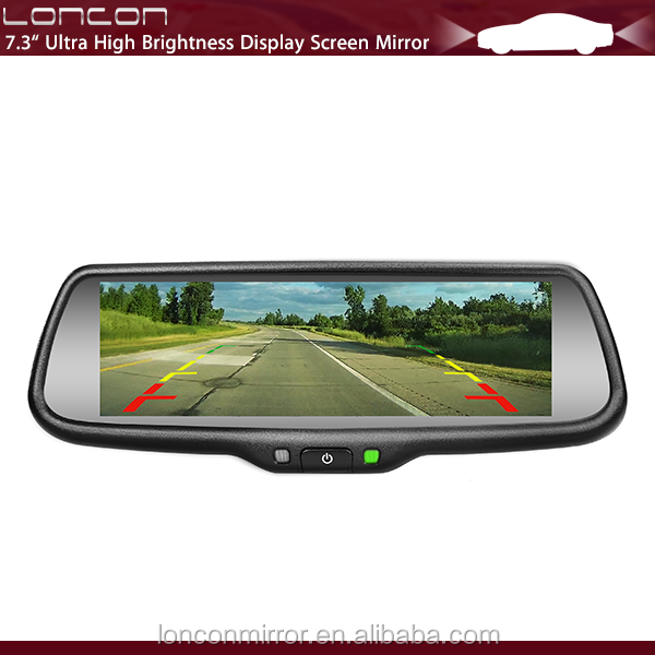 7 inch TFT LCD Monitor Rear View Mirror Monitor with Mirror link