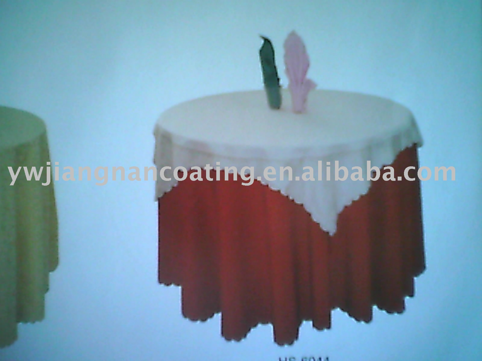 waterproof glitter round fitted Table cloth