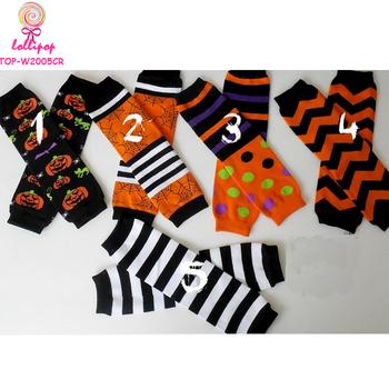 kids soft knitted leg warmer chevron baby leg warmers halloween holiday leg warmers