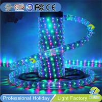 China Factory CE rainbow color 220v led rope light