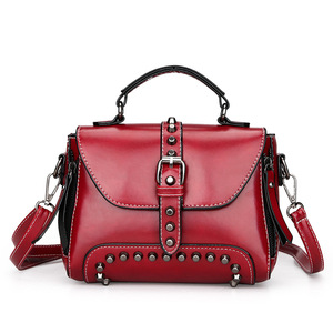 Fashion Import Wholesale Italy Pattern Ladies Studded Handbag