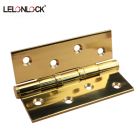 Wood door 3 /4/5 inches Polish brass door hinge