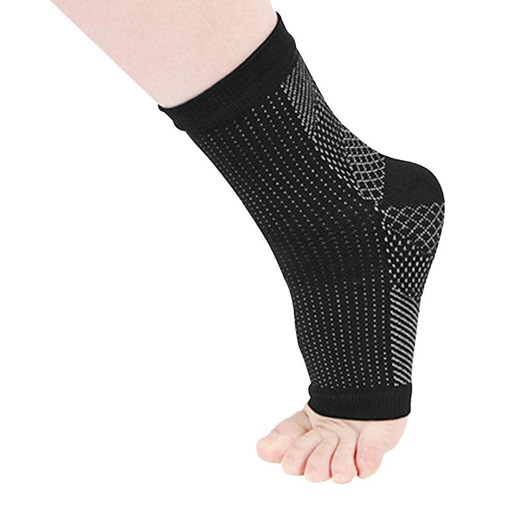 83e8deb61014 Get Quotations · 1 Pair Ankle Sleeve Compression Socks Recovery Foot  Sleeves Plantar Fasciitis Support Socks Ergonomic Supports For