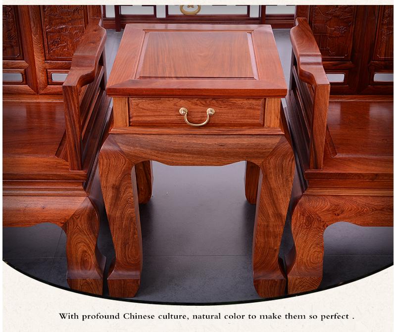 custom logo wood durable living room furniture wholesale