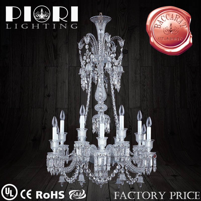 12 Lights Baccart Chandelier For Events Decorative