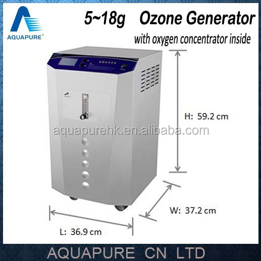5-18gr/H Adjustable Industrial Ozone Generator Machine with PSA oxygen <strong>system</strong> inside