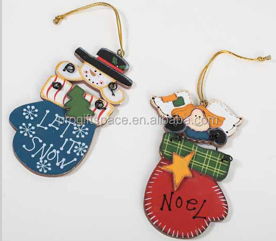 2018 New Hot Sales Handmade Wholesale Gift Wood Snowman Angel Noel Ornament Christmas Decorations Wooden Craft For Wall Hangings Buy Wooden Craft