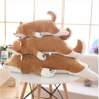 50-90cm dog doll Cute Brown Akita dog plush toys Stuffed animals Down Cotton Soft dog pillow Cushion Christmas gift for kids