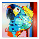 Stretched Thick Texture Parrot Oil Painting for Home Decor