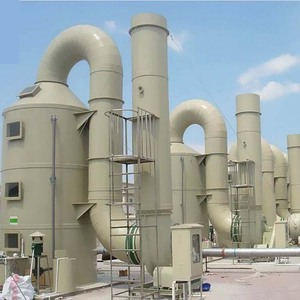 GRP purification tower Fiberglass tail gas absorption tower GRP Acid Mist Gas Absorption Tower FRP Scrubber