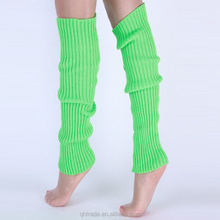 Ladies Women Solid Color Plain Knit Leg Warmers for Exercise Sport Dancing