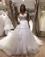 New Arrival alibaba Ball Gown Lace Real Photos Wedding Dress 2017