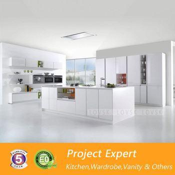 High Gloss Shaker White Kitchen Cabinet Design Buy