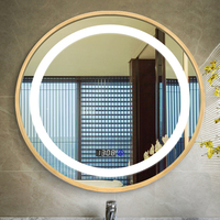 UL approve Round shape frameless led hotel lighted mirror